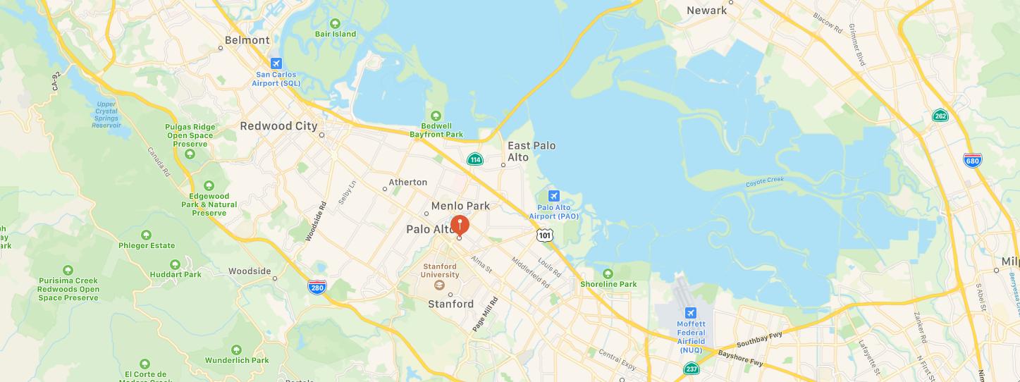 Palo Alto California Map