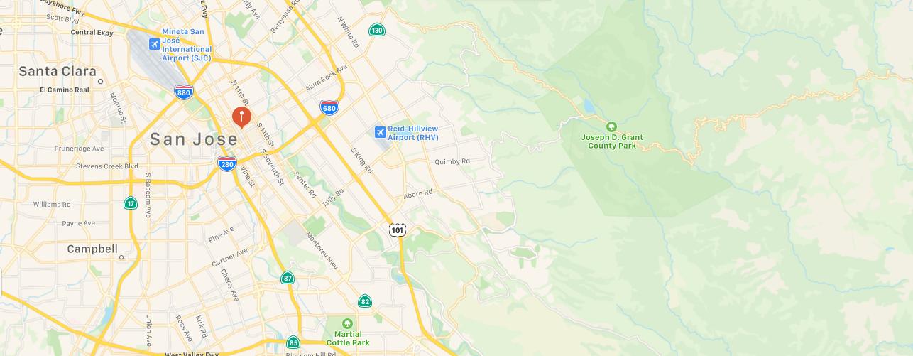 San Jose California Map